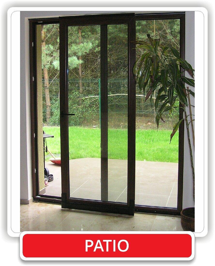 Tylko na zewnątrz Drzwi Przesuwne PCV - Stoldrew - producent okien i drzwi, okna PCV QY17